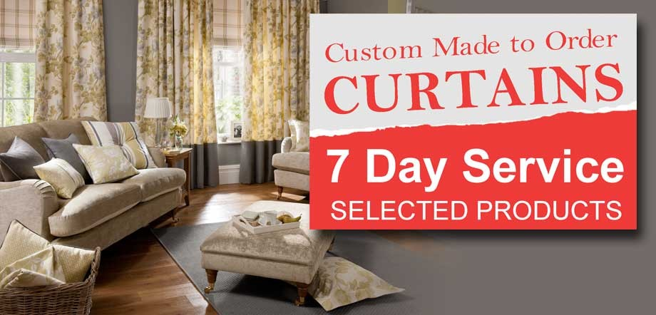 Custom made curtains now available in 7 days